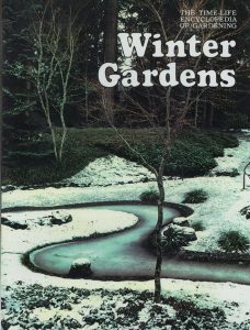 A winding exposed aggregate water feature at the Chase Garden was featured on the cover of Time Life's Encyclopedia of Gardening's Winter Gardens.