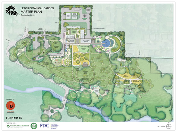 A new master plan for Leach Botanical Garden, created by Land Morphology, was approved in November 2015