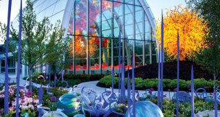 Brilliant color and artful gardens. Photo: Courtesy of Chihuly Gardens & Glass