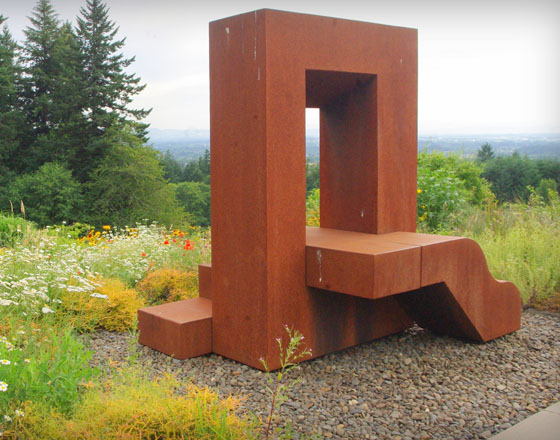 Window to the Gone world by sculpture artist, Lee Kelly. Photo: Alan Lorance