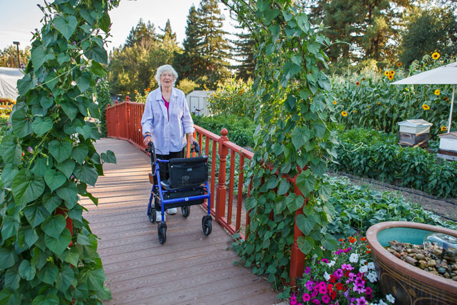 A gentle ramp walkway provides therapeutic benefits. Photo: Saxon Holt