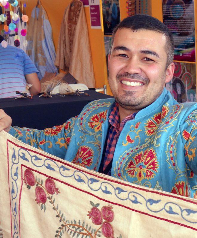 Textile artisan at the Market. Photo: Kathy Knorr via Flickr