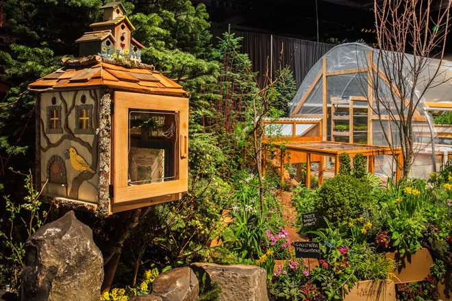 "An edible, sustainable garden display created by Farmer Frog in 2017. Show manager Jeff Swenson says, ""The show will continue embracing new trends in sustainability, local food sourcing and procurement, as well as urban development."" Photo: courtesy of NWF&G Show"