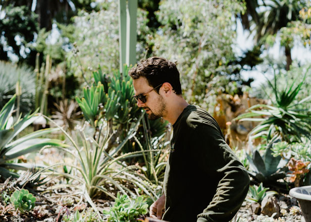 Walker Young, assistant curator of The Ruth Bancroft Garden. Photo: Ryan Tuttle